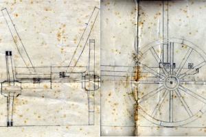 Zeichnung eines Ackerwagens 1937